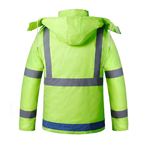 LiYL Inverno Nuovo Plus Cotone Caldo Abbigliamento Riflettente di Sicurezza Abbigliamento Impermeabile Giallo Fluorescente Abbigliamento Invernale Resistente alle intemperie