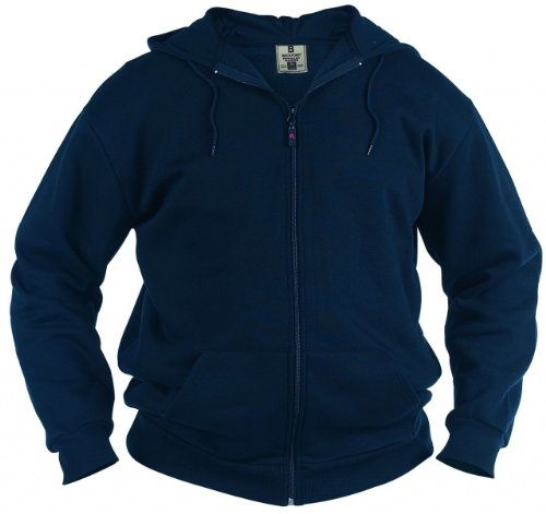 Rockford KS1609 Kapuzen Sweat-Jacke grau-mel. in Übergrößen blau