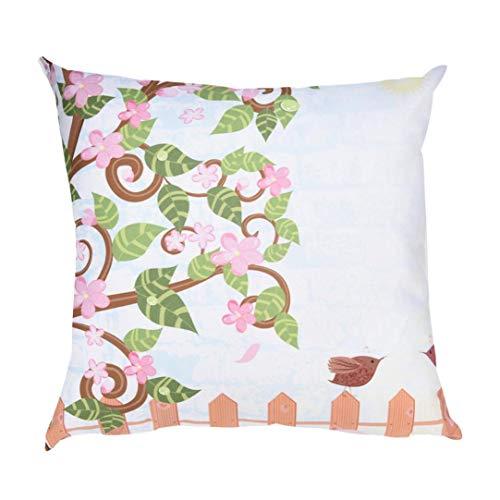wuayi Polyester Print Dekorativer Überwurf-Kissen Kissen Home Sofa Decor, Polyester, B:45x45cm, 45 x 45 cm