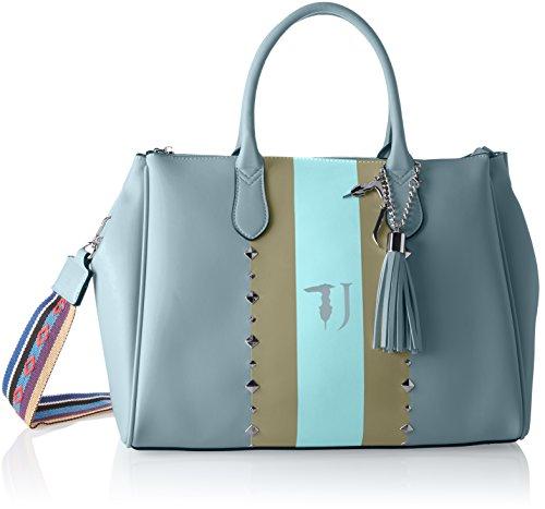 Trussardi Jeans Blondie Ecoleather Print Stripes/Studs Tote Bag, Cabas