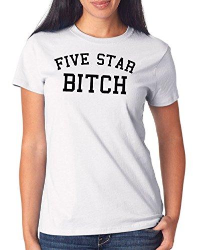 Five Star Bitch T-Shirt Girls Blanco-XXL