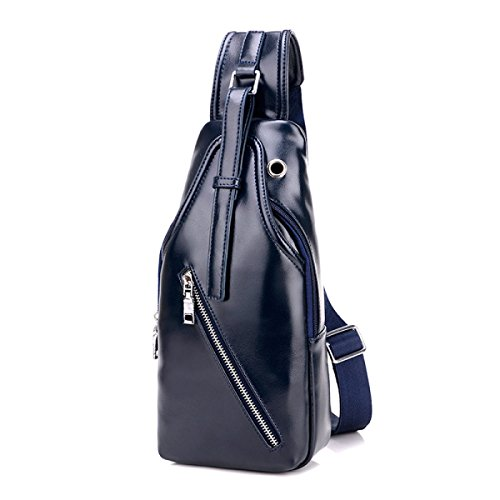 BULAGE Pack Brustbeutel Männer Mode Sport Outdoor Rucksack Männer Lässig Schulter Kleiner Wasserdicht Langlebig Blue