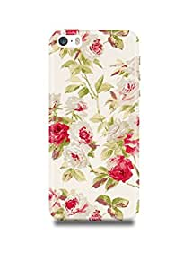 Apple iPhone SE Cover,Apple iPhone SE Case,Apple iPhone SE Back Cover,Vintage Roses Floral Pattern iPhone SE Mobile Cover By The Shopmetro-2867