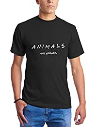 Animals Are Friends Inspired by TV Series Pet Dog Cat Lovers Fans Camisetas  para Hombre 712f7af136e0a