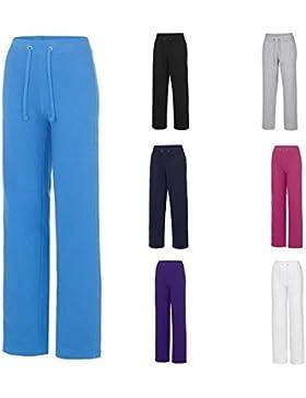 Joggaboms - Pantalones de deporte de buena calidad, estilo favorecedor, dobladillo abierto, tela suave, idóneo...