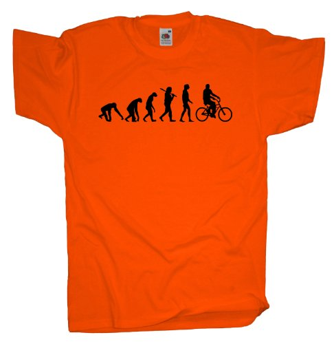 Ma2ca - Evolution - Mountainbike Biker T-Shirt Orange
