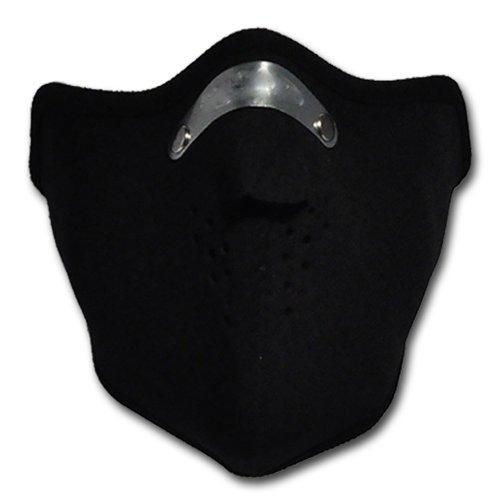 WINDMASK Neopren Biker Motorrad Maske Sturmmaske Skimaske - Schwarz