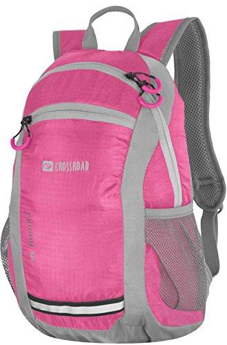 Crossroad Mädchenrucksack wasserabweisend Wanderrucksack Kinderrucksack Mädchen Rucksack Timmy 12 Liter pink mit verstellbaren Brustgurt