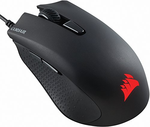 Corsair CH-9301011-EU Harpoon RGB Rétro-éclairage RGB Multicolore Performante 6000 DPI Optique Souris Gaming, Noir