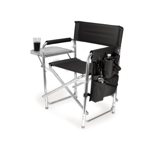 picnic-time-portable-folding-sports-chair-black