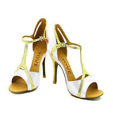 Scarpe da ballo Donna - Latinoamericano / Salsa - Customized Heel - Satin -Nero / Blu / Giallo / Rosa / Viola nude