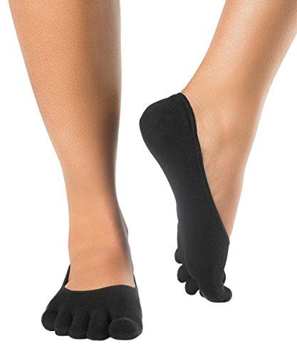 Knitido Track & Trail Zero | Zehen-Füßlinge aus Coolmax®, atmungsaktiv, für Zehen- oder Barfußschuhe, für Damen und Herren, einfarbig in den Farben schwarz, weiß, rot, (Rot Und Schwarz Schuhe Dame)