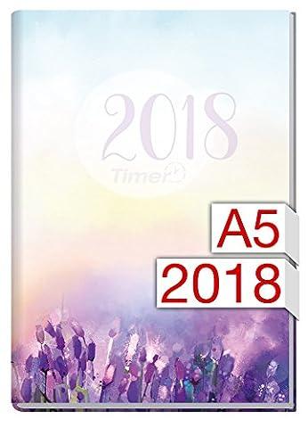 Chäff-Timer Classic A5 Kalender 2018 [Flieder] 12 Monate Jan-Dez 2018 - Terminkalender mit Wochenplaner - Organizer - Wochenkalender