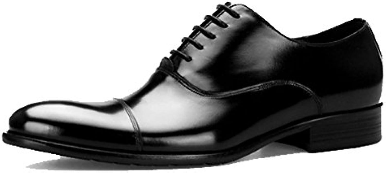 MERRYHE Herren Spitzschuh Oxford Schuhe Aus Echtem Leder Abendkleid Derby Shoe Arbeitsschuhe Business Work Party