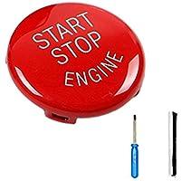 Republe ABS botón del Interruptor del Motor de Coche Start Stop Cubierta para BMW E60 E70 E71 E90 E92