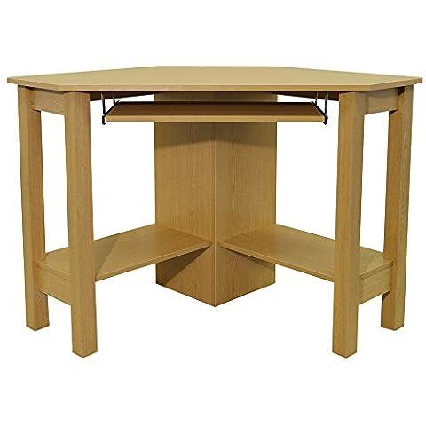 HORNER - Corner Office Desk / Computer Workstation - Oak