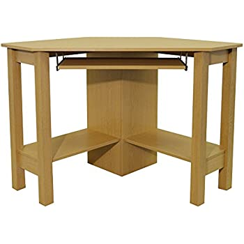 Home Office Computer Desk Corner unit Brushed Oak Amazoncouk