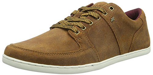 Boxfresh Herren SPENCER Low-Top, Braun (TAN/MAROON), 46 EU Casual Canvas Oxford