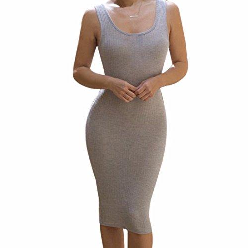 Qiyun Material: Cotton–Robe pour femme Gris