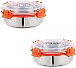 KINSHIP INDIA Smart Lock N Lock Tiffin Bowl 425 ML (12 CM, Orange)