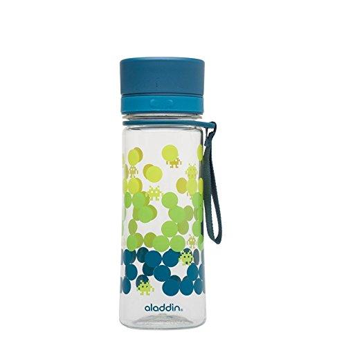 emsa ersatzdeckel Aladdin 32431 Aveo Trinkflasche Kids 0.35 Liter, blau mit Aufdruck