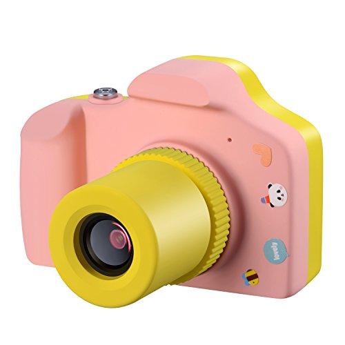 Samoleus Macchina Fotografica per Bambini, Mini Fotocamera Digitale Portatile, Digital Camera Kids Videocamera HD 1080P / 5MP / LCD da 1.5 Pollici / con Scheda SD da 8 GB (Rosa)