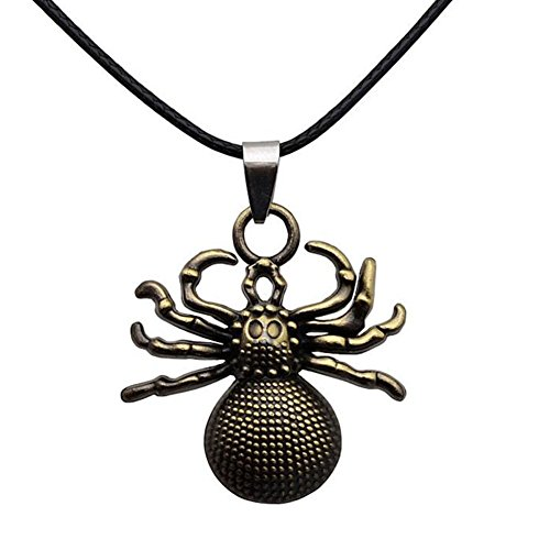Metallic Spider King Halskette Torque-Kettenarmband -Charme-Schmucksachen (Gold Spider Charme)