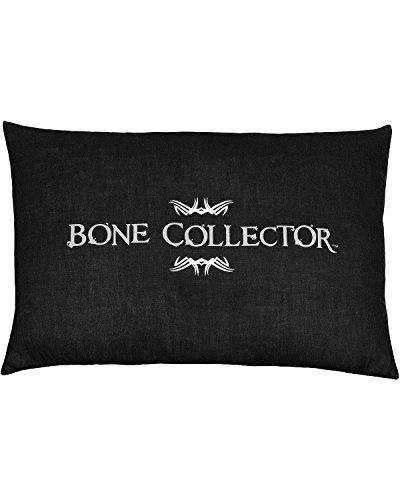 Bone Collector schwarzes, längliches Kissen (Bone Collector Kissenbezüge)