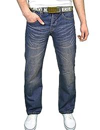 Seven Series Mens Designer Branded Regular Fit Bootcut Jeans