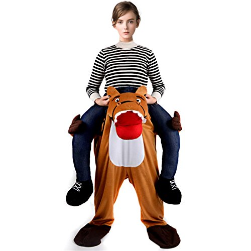 Triseaman Erwachsener Schweingyback Lustiges Kostüm Halloween Kostüm Cosplay (Kostüm Tier Ballon)