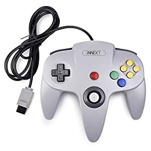 iNNEXT Retro Wired Controllers für N64 Console, Classic Controller Joystick für Classic 64 Konsole N64 Game System,Grau