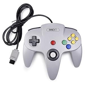 miadore Retro Wired Controllers für N64 Console, Classic Controller Joystick für Classic 64 Konsole N64 Game System,Grau