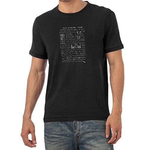 TEXLAB - Theory of Relativity - Herren T-Shirt, Größe L, schwarz (Jungen Rick Kostüm)