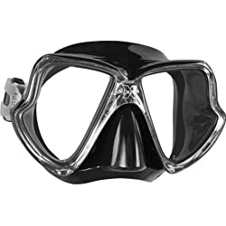 Mares X-Vision Mid Mask for Scuba Diving and Snorkeling - Black