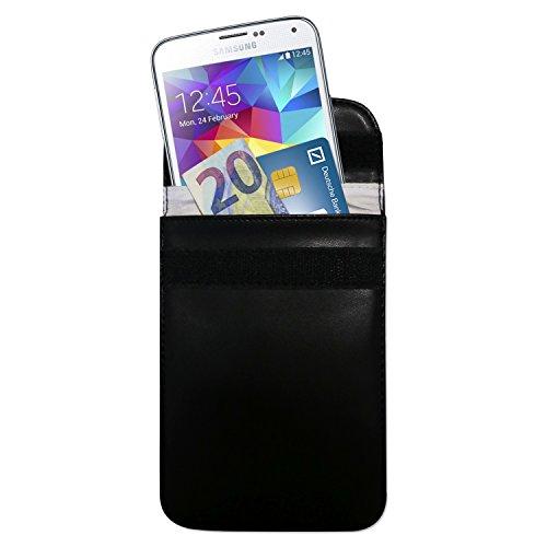 HMF 3404-02 Housse de Protection RFID Clés de Voiture Smartphone Keyless-Go, Blindage, 15 x 11 x 1,5 cm, Noire