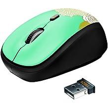 Trust Yvi Wireless Mouse ottico, verde flowers