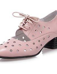ffb5a168e IOLKO njx de zapatos de mujer piel tacón bajo punta redonda oxfords Outdoor    vestido