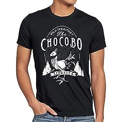 CottonCloud Wild Chocobo T-Shirt Homme Final VII Jeu de rôle, Taille:M, Couleur:Noir