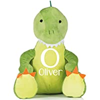 Personalised Name and Initial Dinosaur Soft Personalised Large Teddy Christmas Bear Birthday Gifts Baby Gifts Baby Keepsakes Children