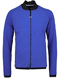 Weekend Offender Electric Blue Quilted Panel Bomber Jacket-Large