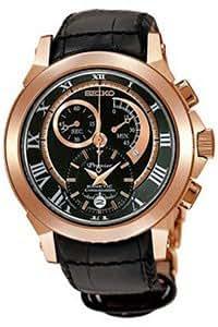 Seiko Chronograph Black Dial Men's Watch - SNL044P1