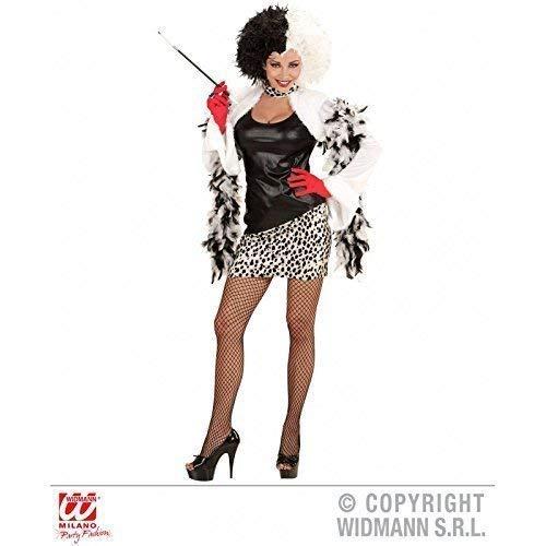 Helden Kindheit Kostüm - Lively Moments Kostüm Evil Mistress für Damen / Dalmatiner Halloweenkostüm / Kleid Devil Gr. XS = 34