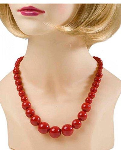 Rote Perlenkette aus Kunststoff (Kunststoff-perlenketten)