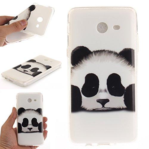 Anlike Schutzhülle für Samsung Galaxy J7 2017 Hülle, Handy Hülle / Handytasche / Silikon Hülle Case / Schlank Flexibel Handy Tasche Cover für Samsung Galaxy J7 2017 - schwarz Totem Panda