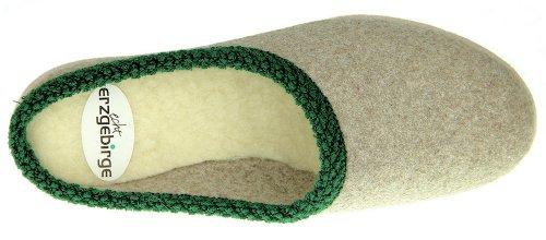 Chaussures en feutre–Pantoufles en laine de mouton des monts Métallifères Gris - Schuhsohle aus Filz (graue Filzsohle)