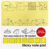 Suck UK - Notas adhesivas (100 unidades, 75 x 75 mm), diseño plegable para hacer figuras, color amarillo