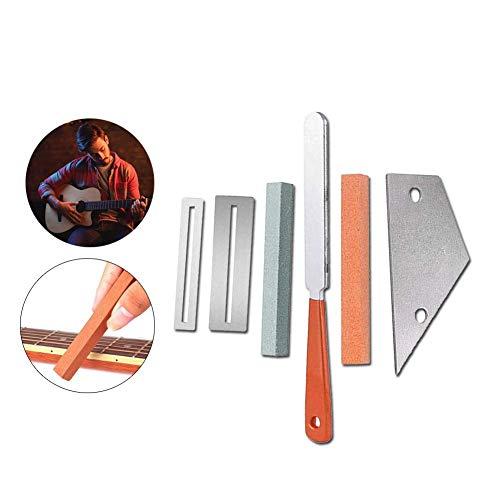 Bestmemories Gitarren-Luthier-Werkzeug-Set inklusive Gitarrenbünde, Krönung von Luthier aus Edelstahl, Fret Rocker Fingerboard Guards Protektoren Schleifstein Musikinstrumente (Mandoline Guard)