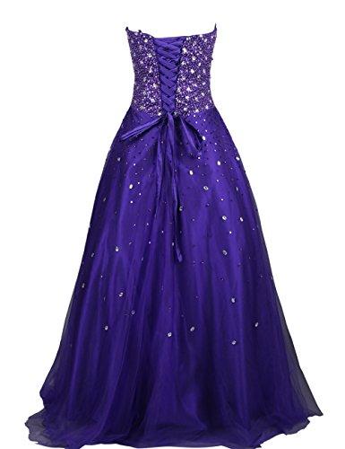 Dresstells, Robe de soirée Robe de cérémonie Robe de bal en satin pailletée couleur pourpre Pourpre