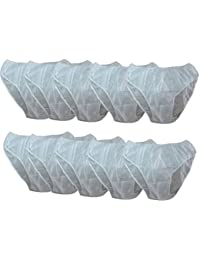 BoldnYoung Women's Tissue Use and Throw Disposable Panty (White, Free Size)-Pack of 10