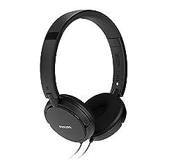 (CERTIFIED REFURBISHED) Philips SHL5000/00 On Ear Headphone with Deep Bass (Black)